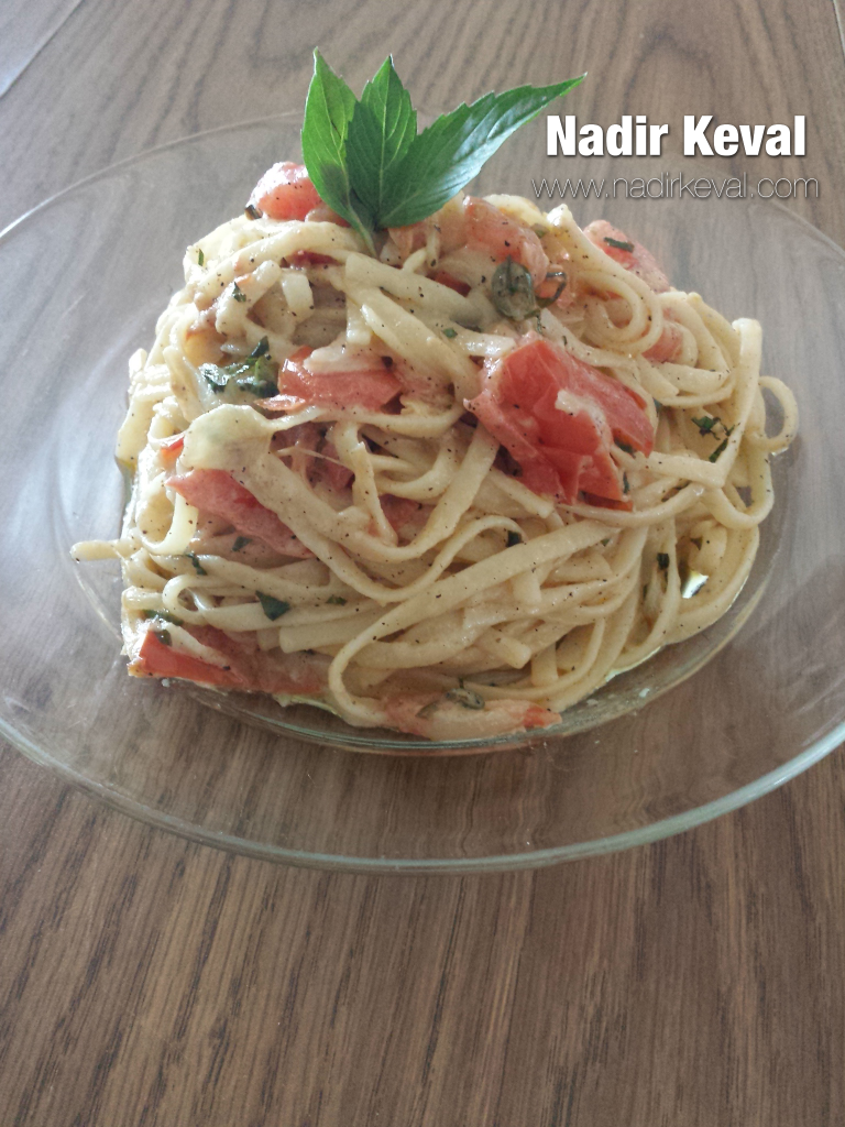 Recipe - Creamy Pomodoro Linguini - Nadir Keval